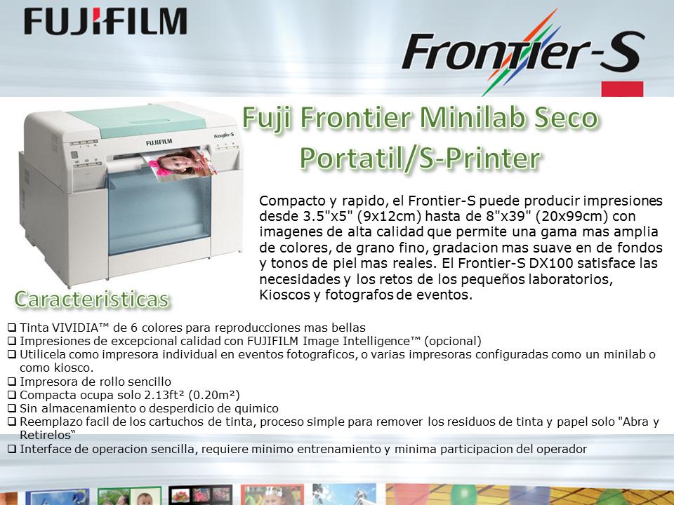 Fuji Frontier Minilab seco Portatil/S-Printer