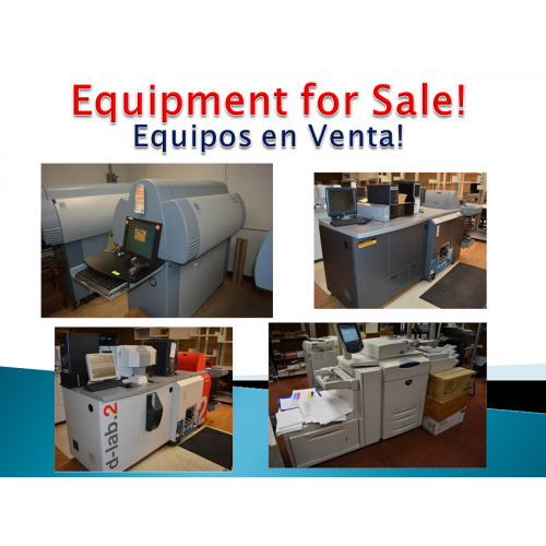 EQUIPMENT FOR SALE!