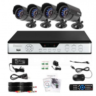 All-in-One Security Cameras 4CH 4CAM CIF DVR System