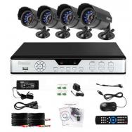 Sistema de Camaras de Seguridad Todo En Uno4CH 4CAM CIF DVR