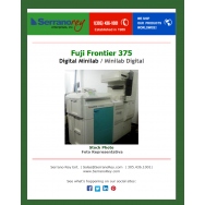 FUJI FRONTIER 375 DIGITAL MINILAB