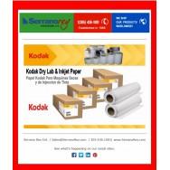 Papel Kodak para Maquinas Secas y de Inyeccion de Tinta