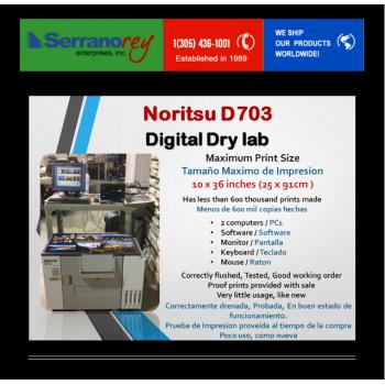 NORITSU D703 DIGITAL DRY LAB