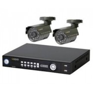 All-in-One Security System - 4 Channels - 2 Cameras Kit No.1
