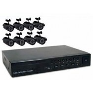 All-in-One Security System - 8 Channels - 8 Cameras Kit No. 4