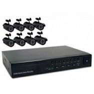 Sistema de Seguridad Todo en Uno - 8 Canales - Kit No. 4 de 8 Camaras