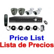 CCTV Lista de Precios